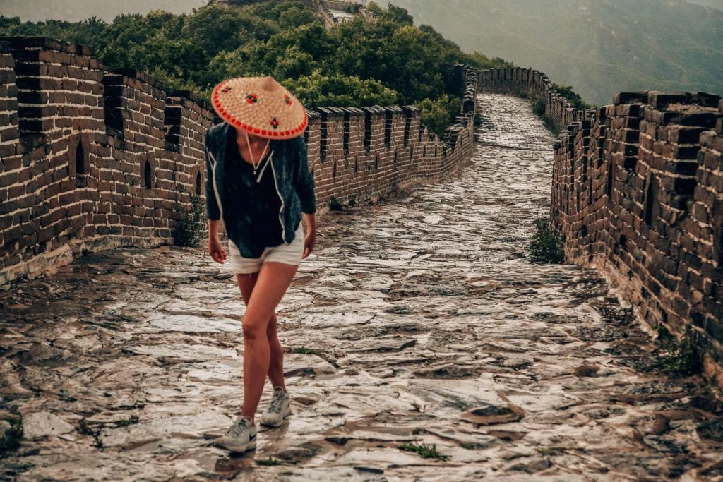 Backpacking through China on the Great Wall of China