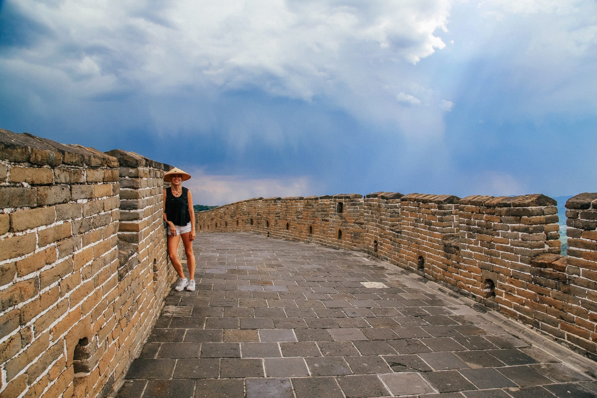 Hiking on the Great Wall of China