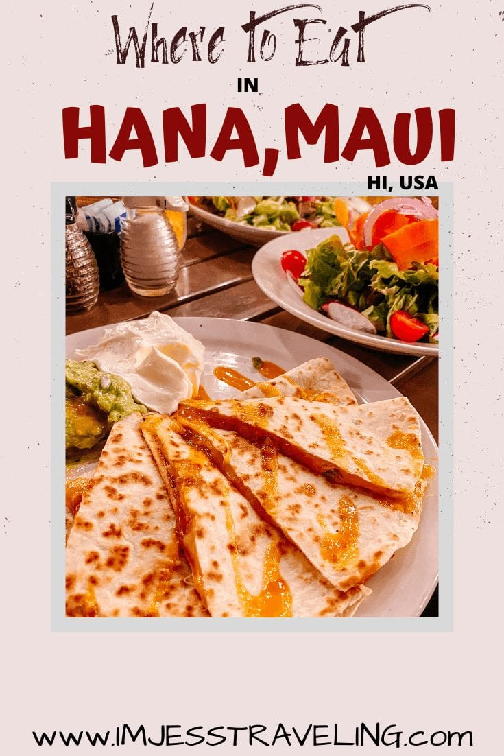 Where to Eat: Hana Maui Restaurants with I'm Jess Traveling