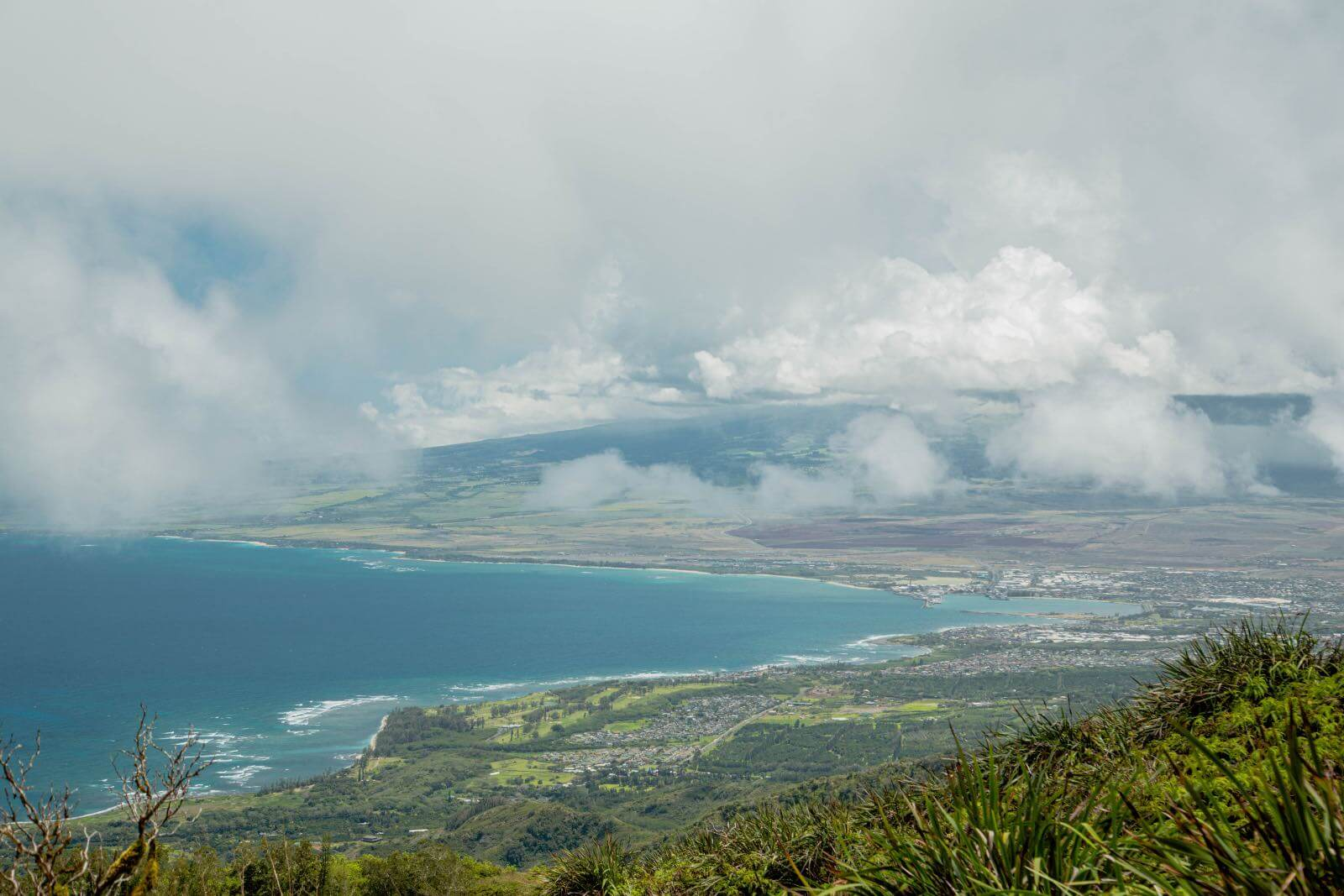 View of the Pacific Ocean on Maui