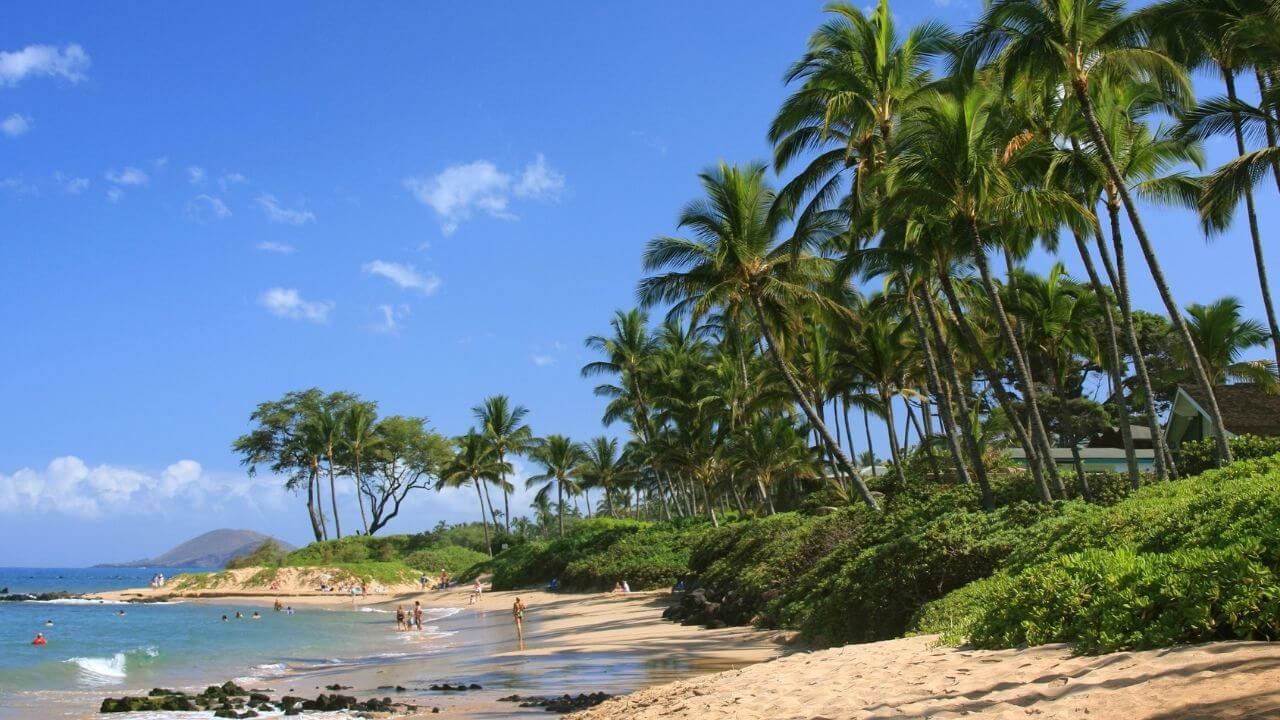 A beautiful beach on Maui