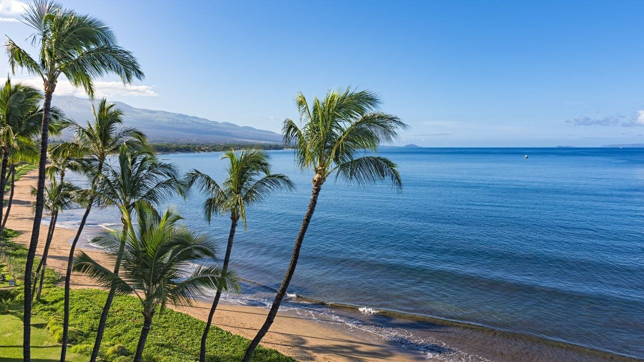 An empty beach in Maui, HI
