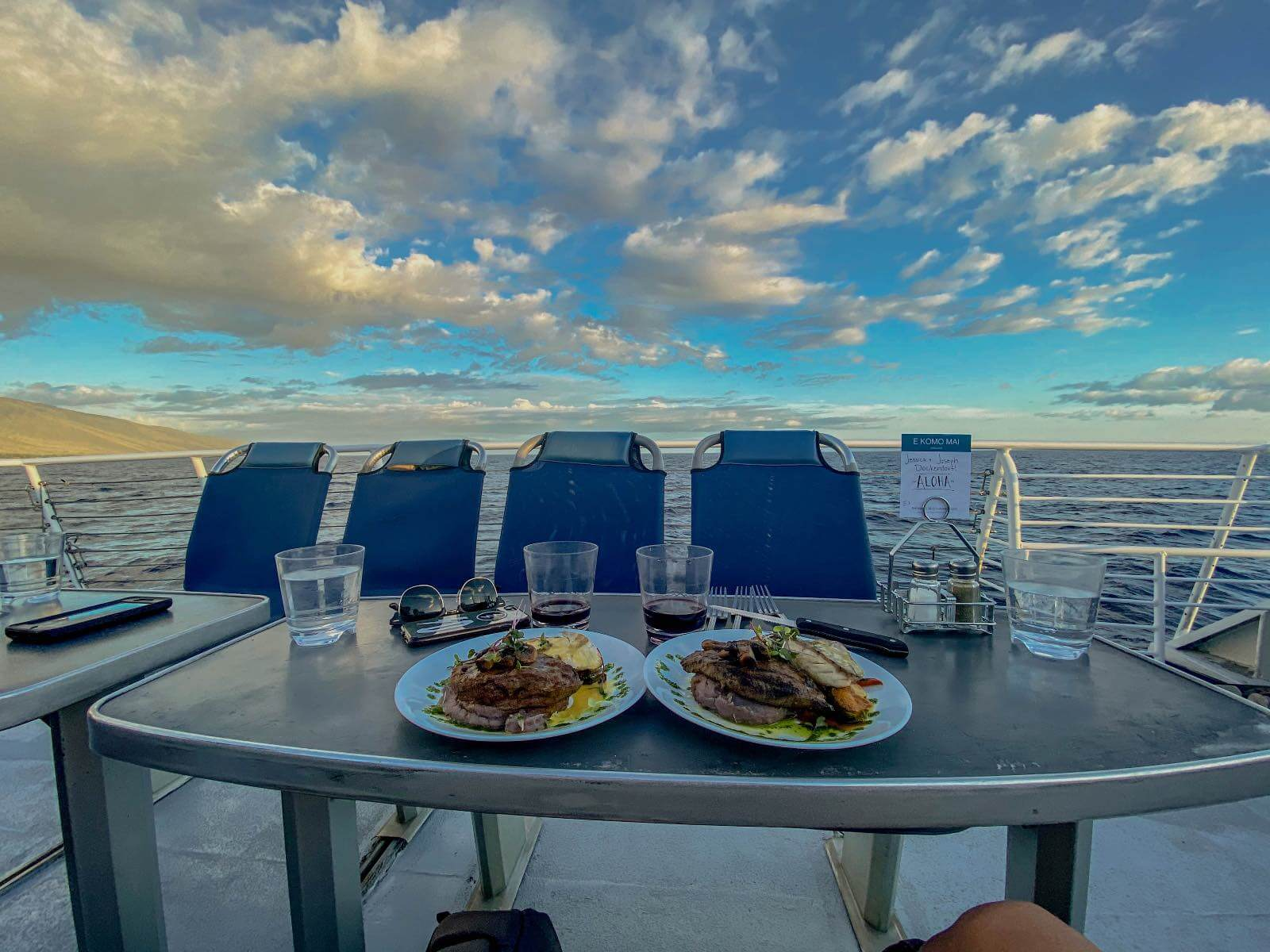 A top thing to do in Maui is dine on a sunset cruise