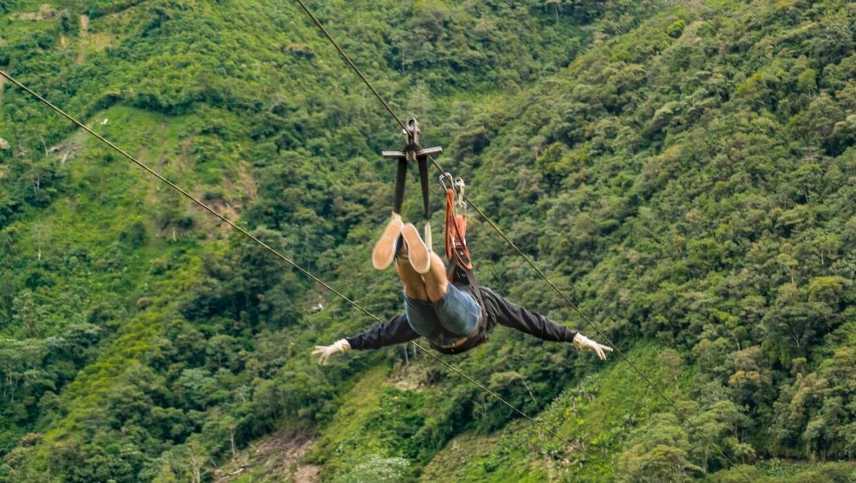 zip-lining the slopes of Haleakala