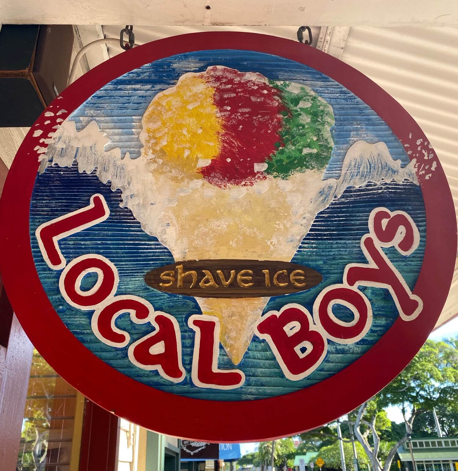 Local Boys Hawaiian shave ice a top thing to do in Lahaina on Front Street