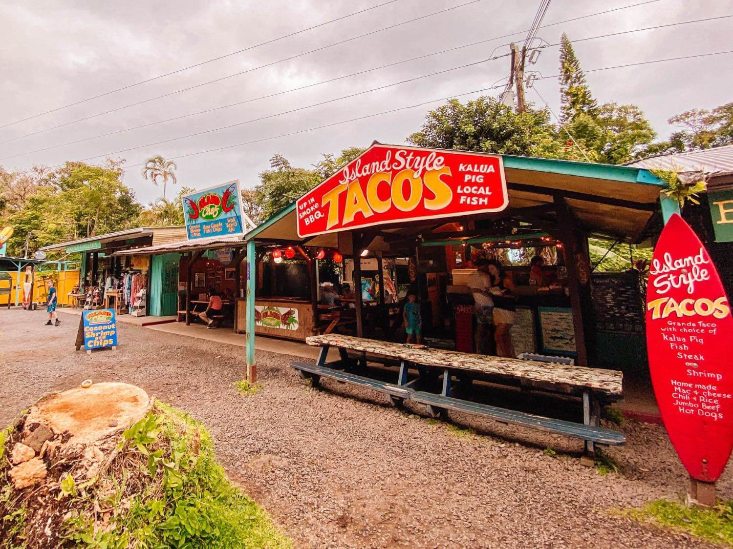 Nahiku Stands a place to eat before you get to the town of Hana