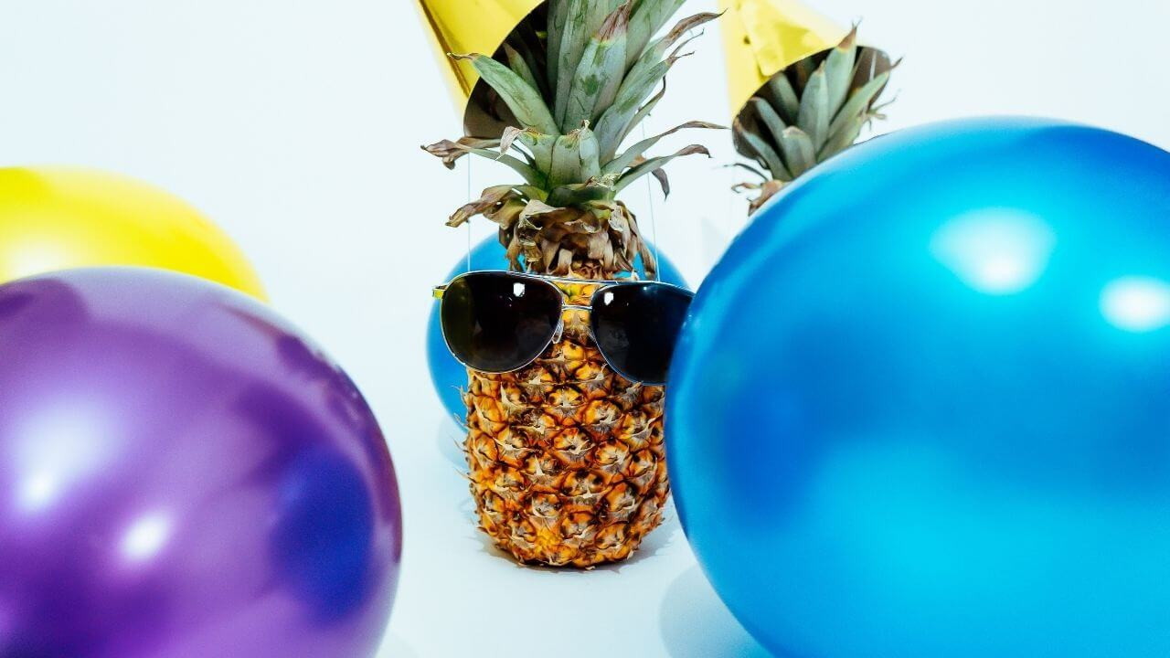 Pineapples at a party