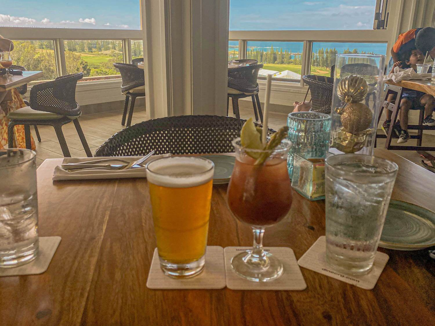 Best Bloody Marys in Maui at the Plantation House in Kapalua Maui