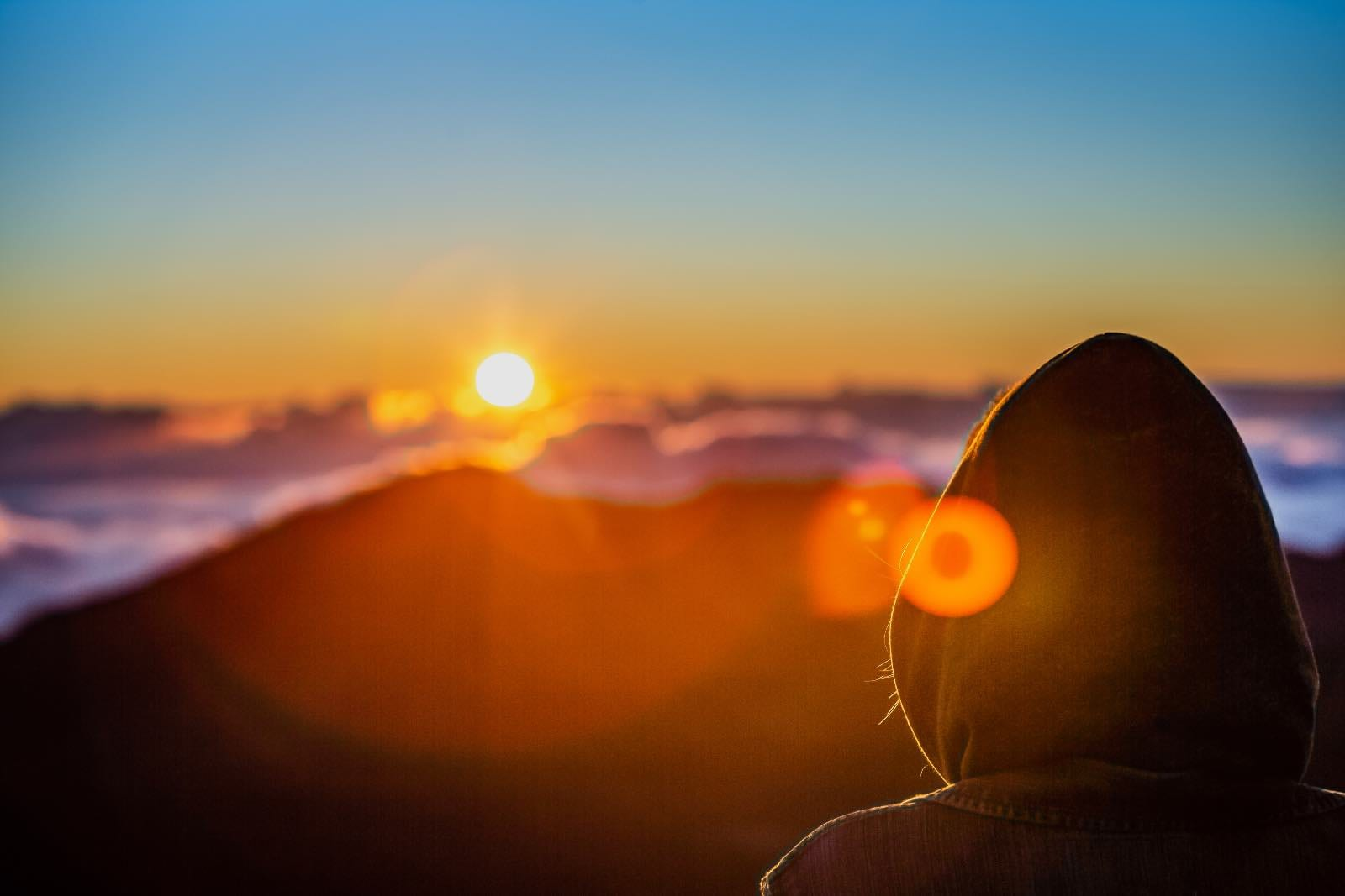 Sunrise atop Haleakala volcano on Maui