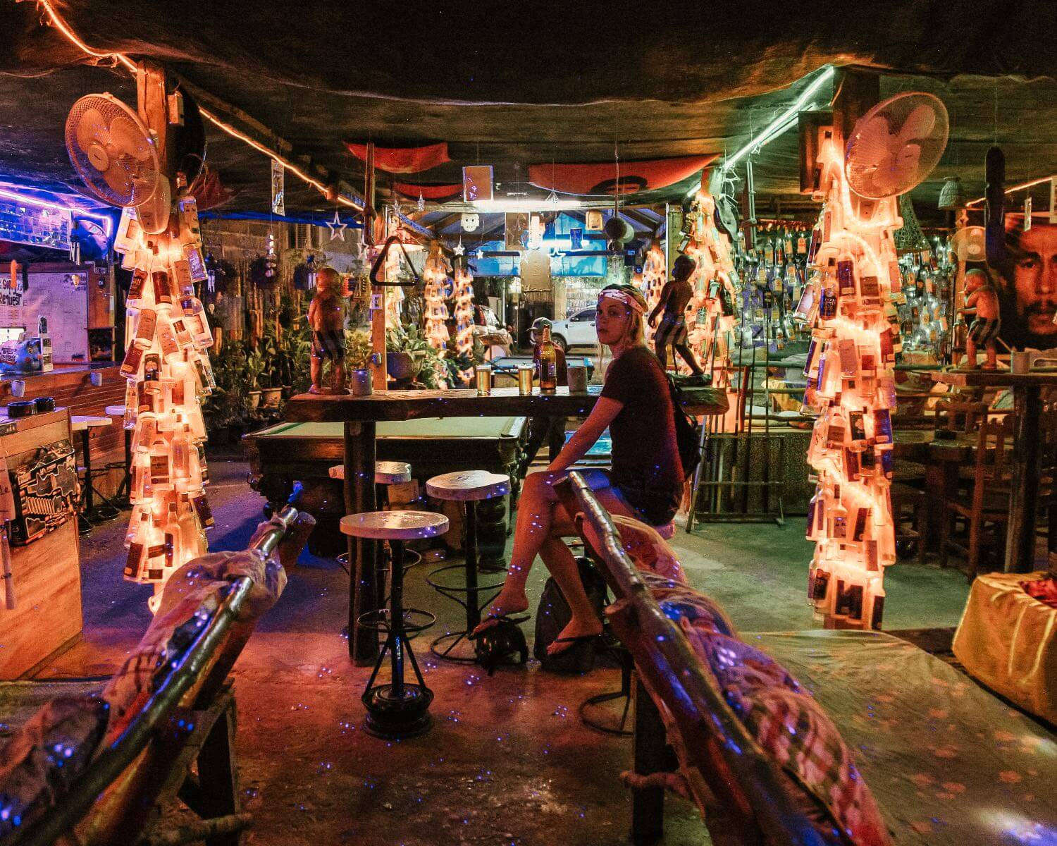 The full moon bar in Vang Vieng