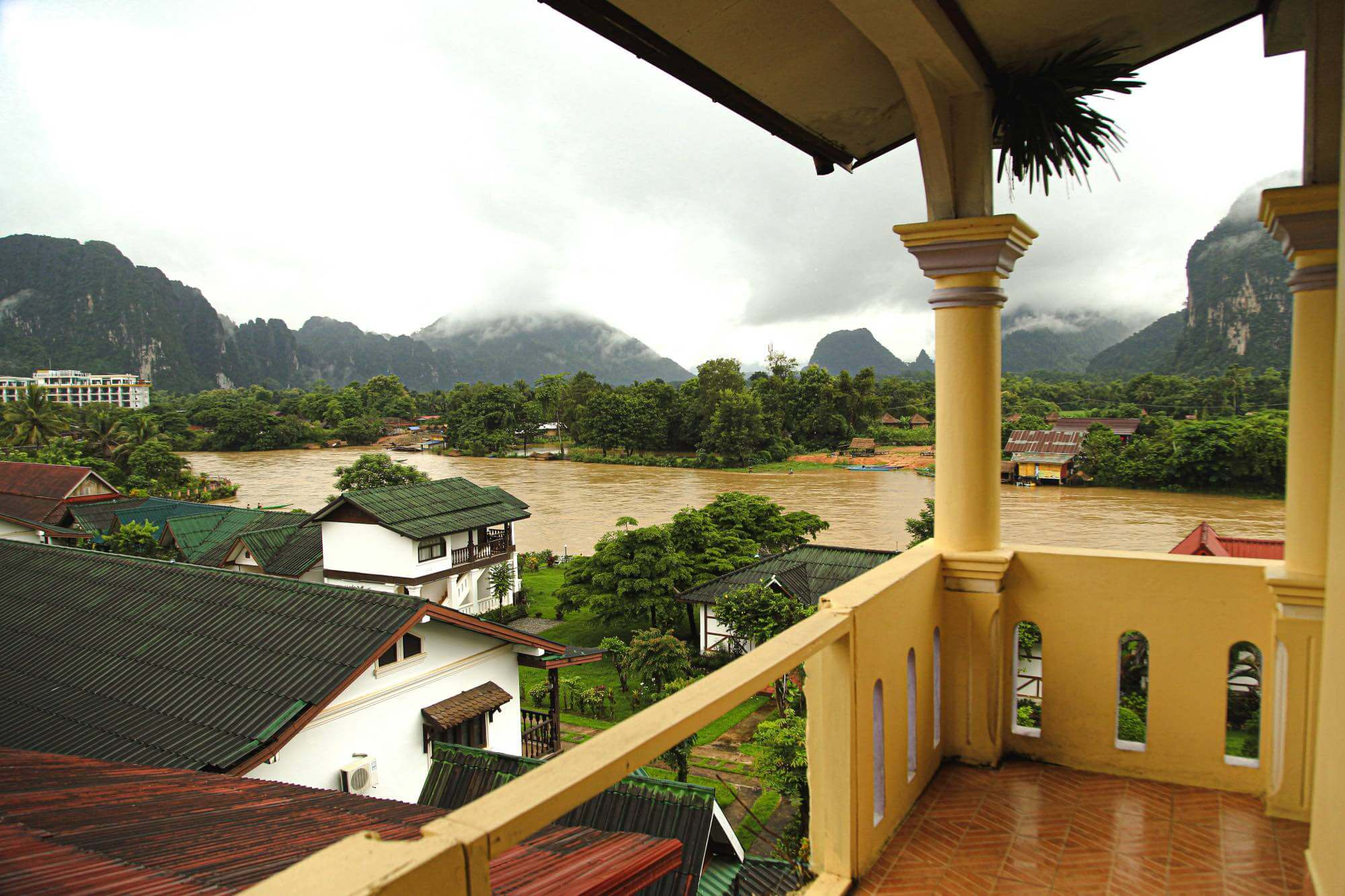 View of the river in Vang Vieng Laos