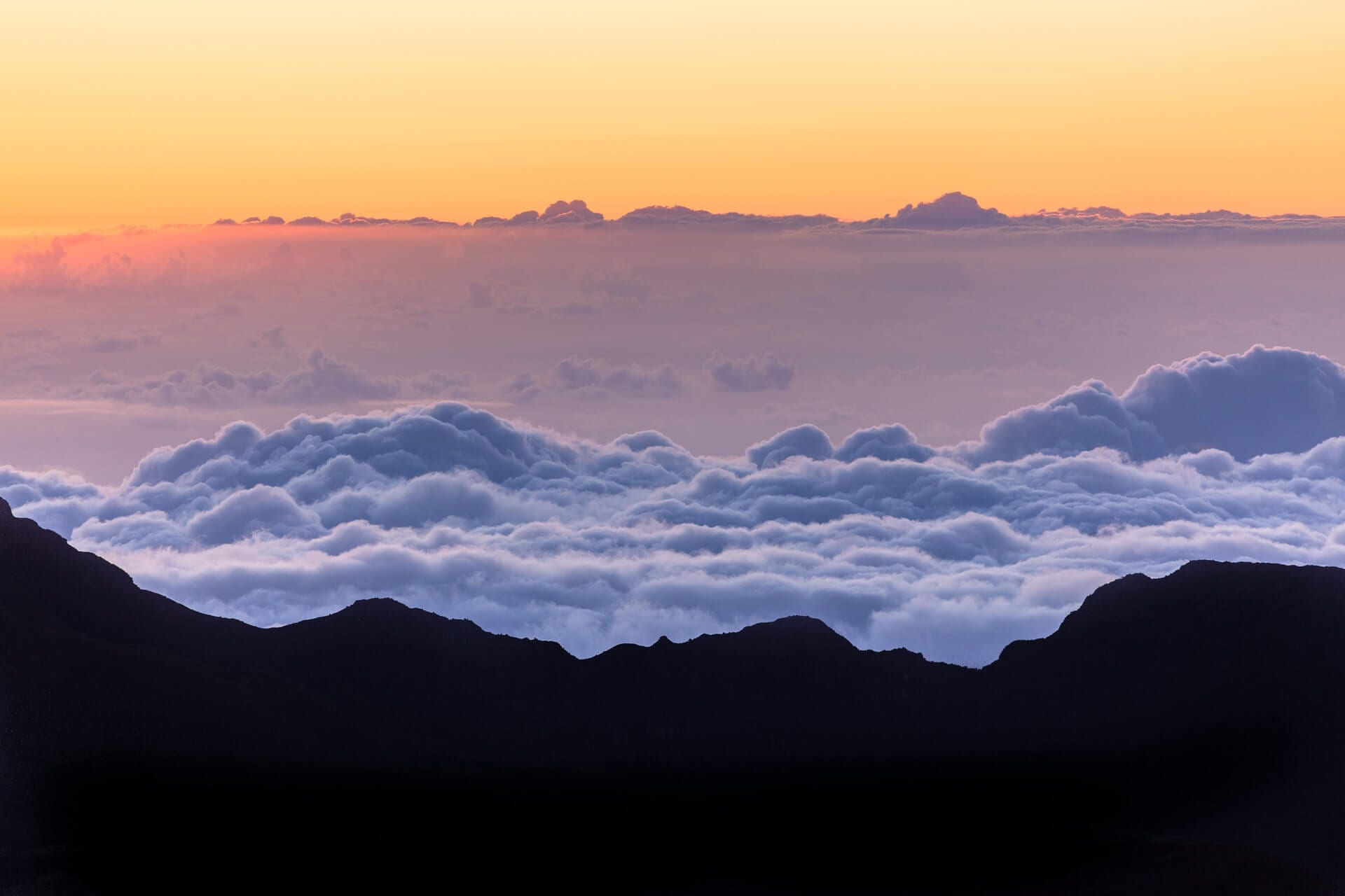 Sunrise over Haleakala National Park