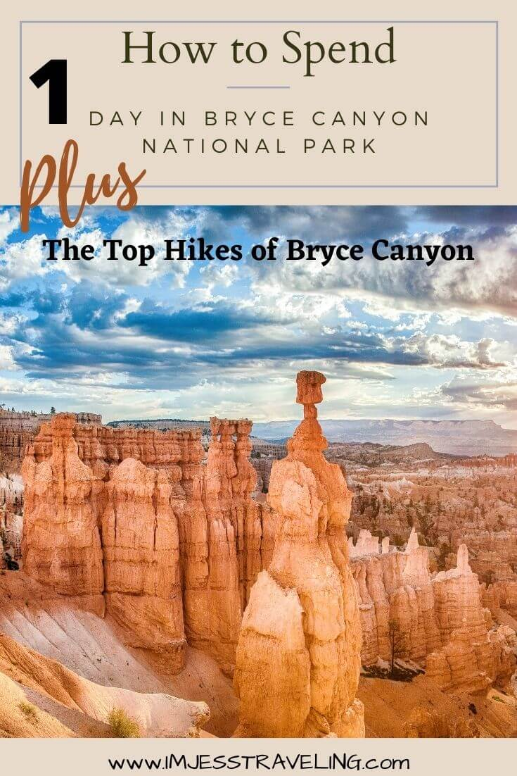 How to spend 1 day in Bryce Canyon and all the best hikes in Bryce Canyon with I'm Jess Traveling