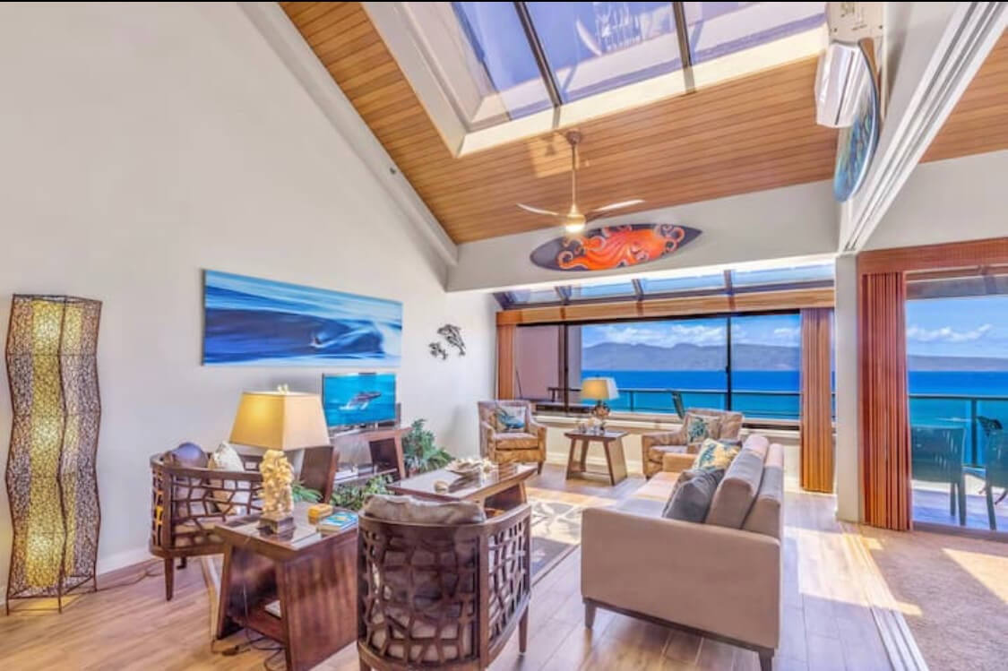 An upscale airbnb in Maui