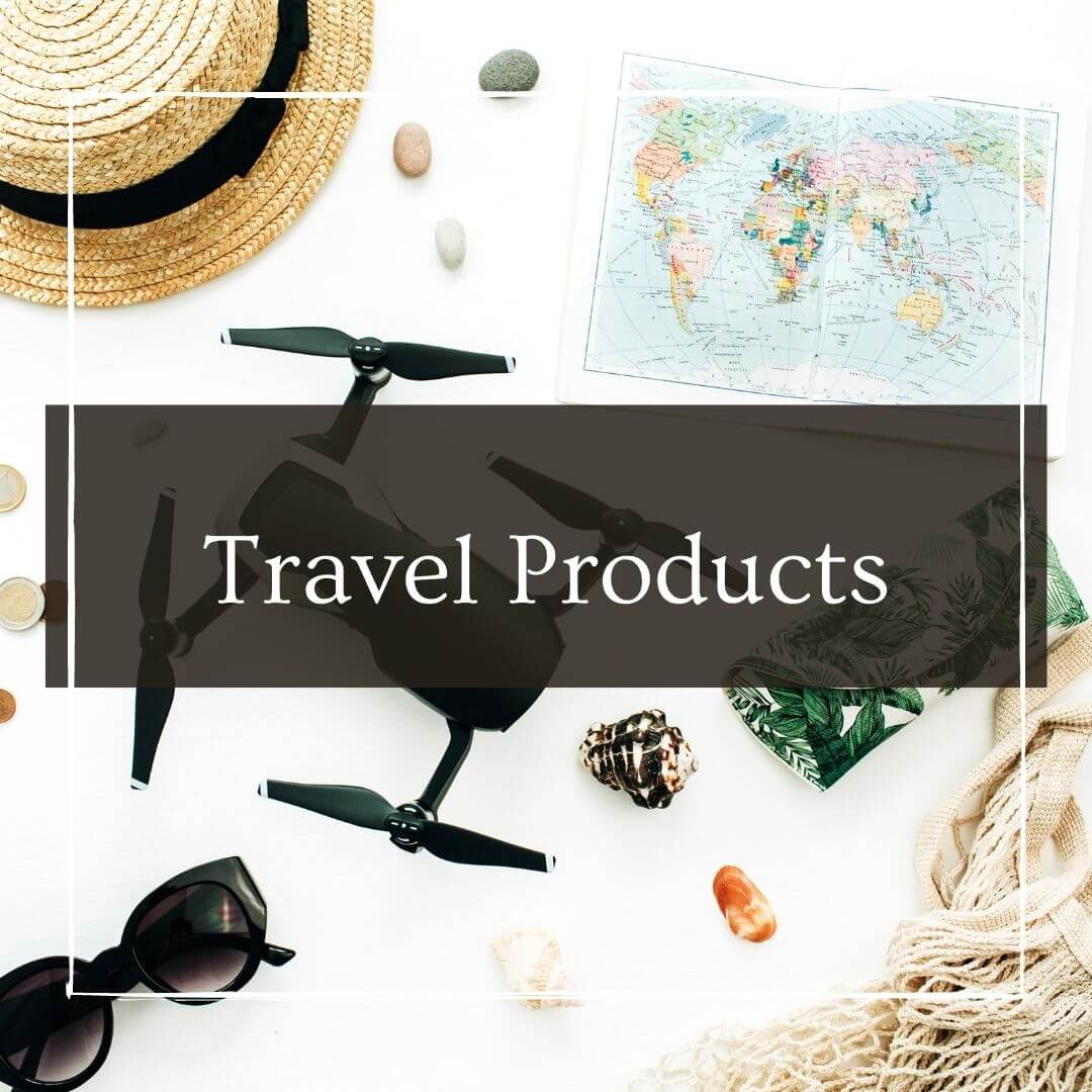 Travel items with I'm Jess Traveling