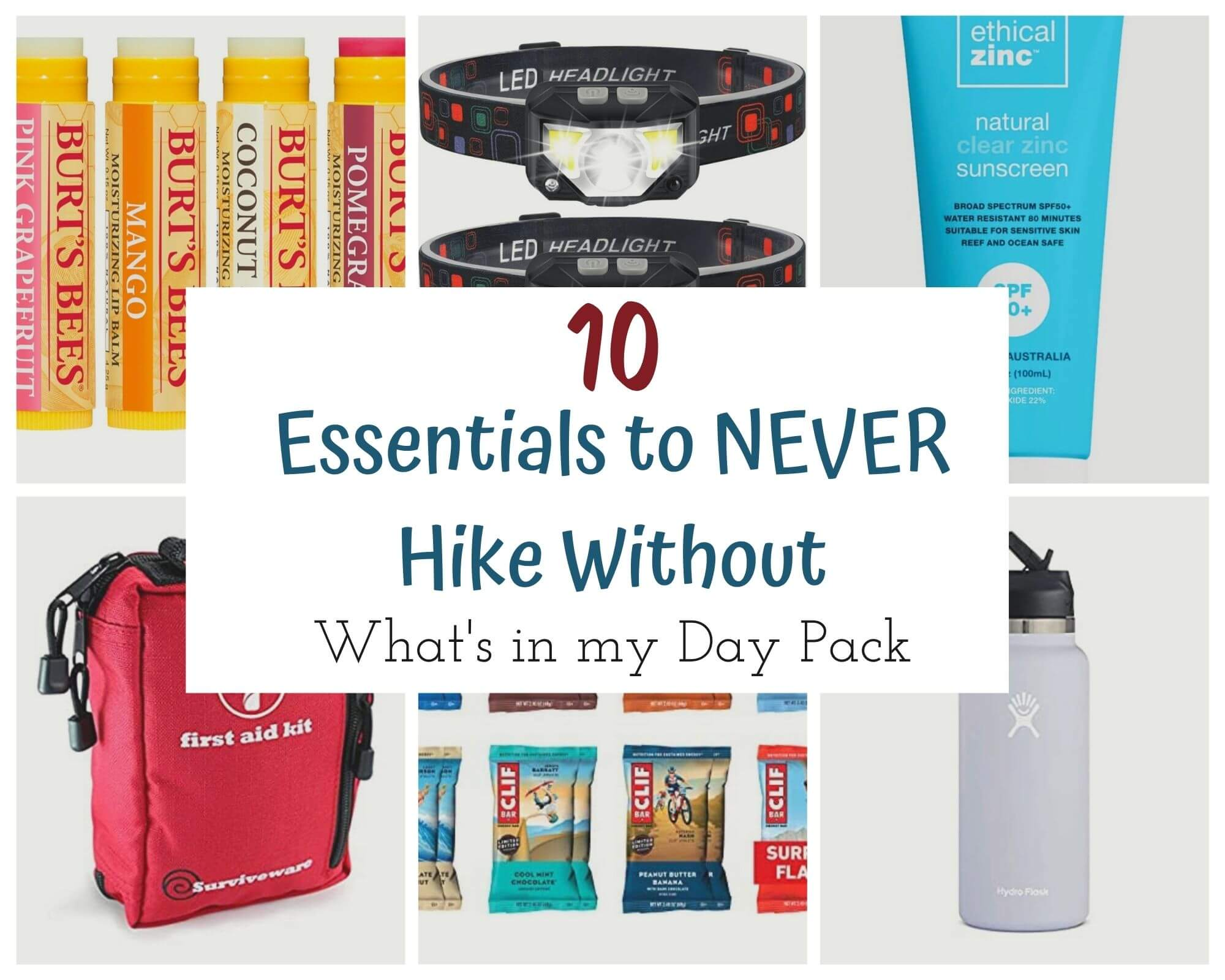 What to Pack in a day pack when hiking with I'm Jess Traveling