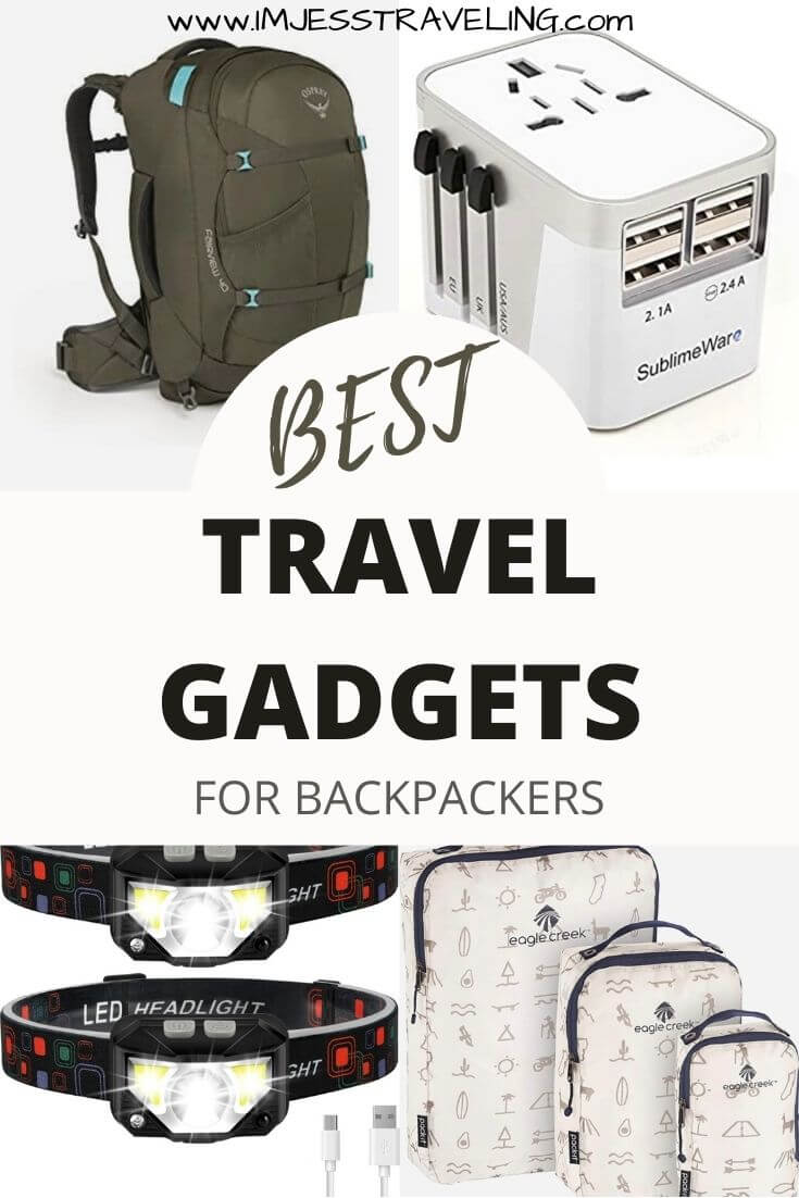 Travel gadgets for backpackers with I'm Jess Traveling