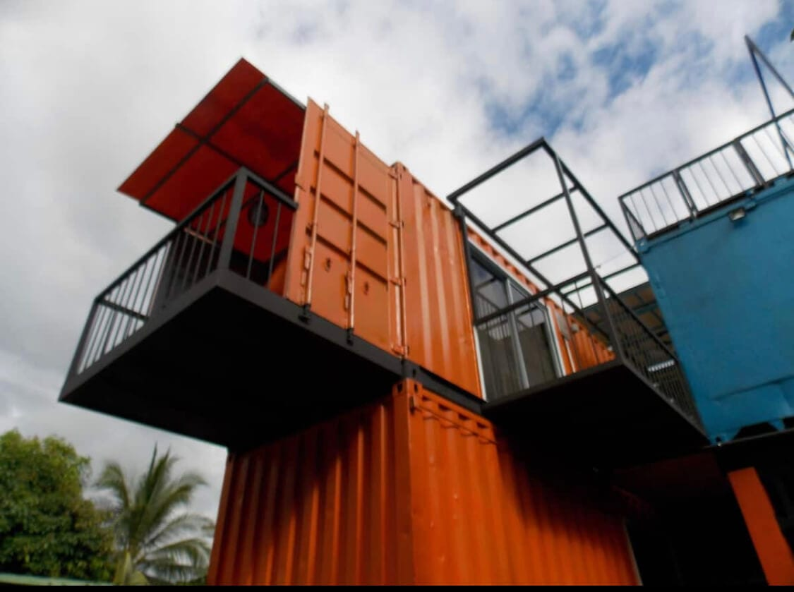 Shipping containers tiny home in Costa Rica