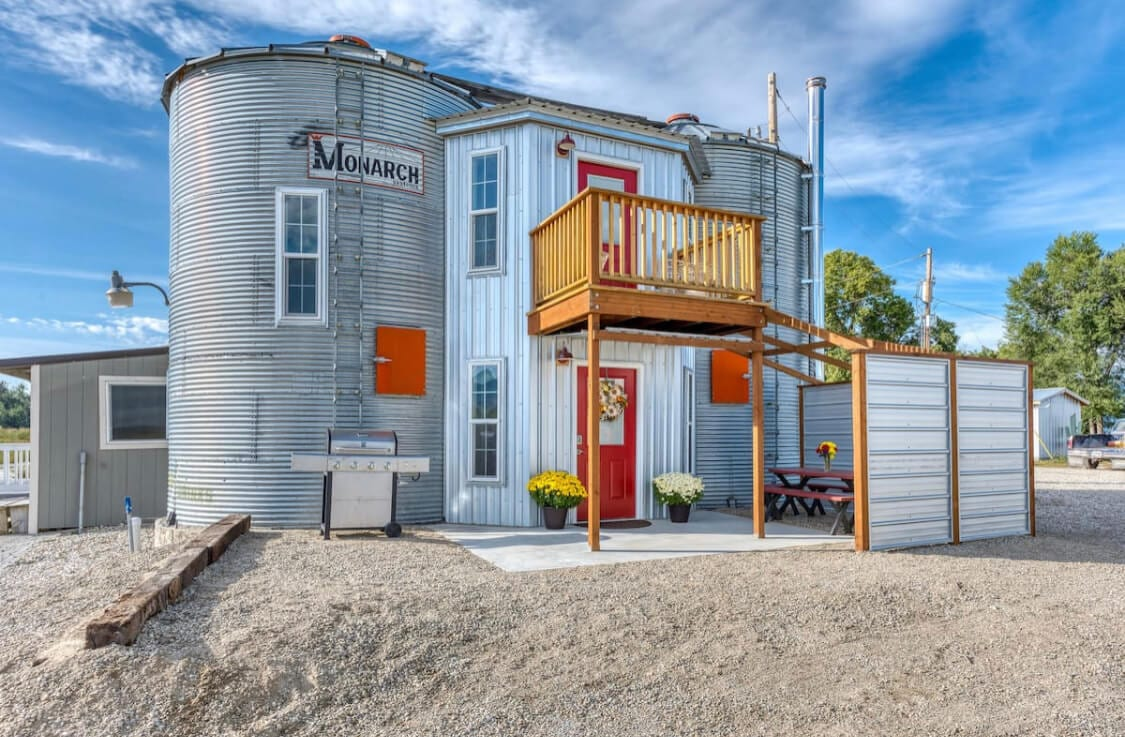 The Silo one of the best airbnbs in Montana
