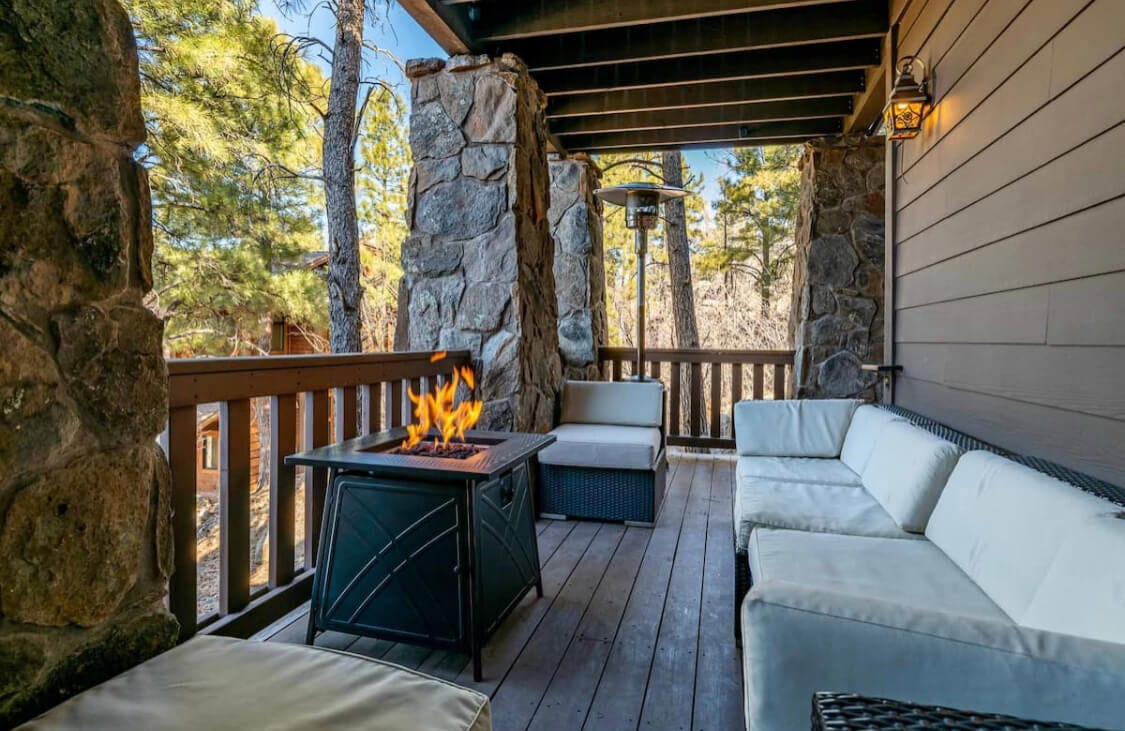 Outdoor patio in Flagstaff, Arizona