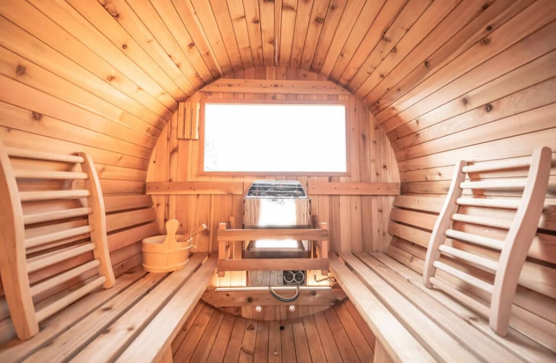 Inside of a sauna in Arizona