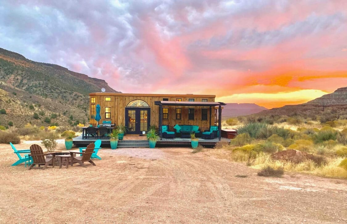 The Ark Tiny home St George Airbnb outside Zion National Park