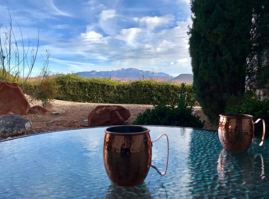 View from the patio in Canyons Casita