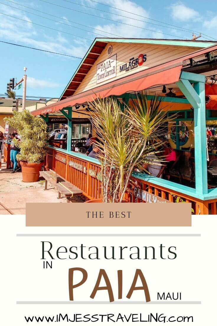 Places to eat in Paia, Maui