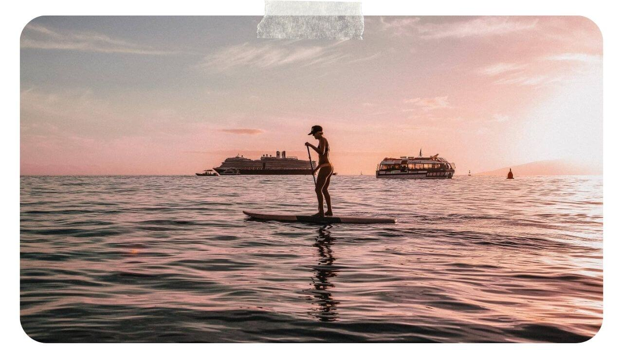 Paddle boarding in Maui