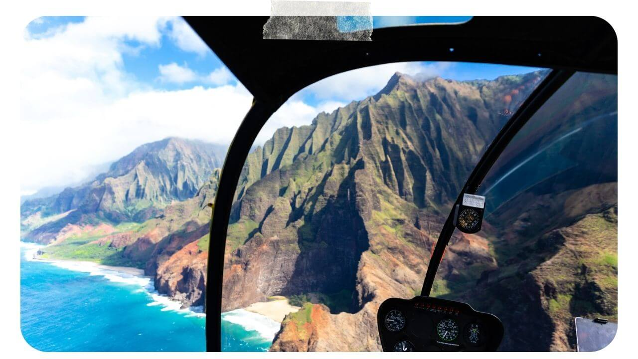 Hawaii from above in a Helicopter
