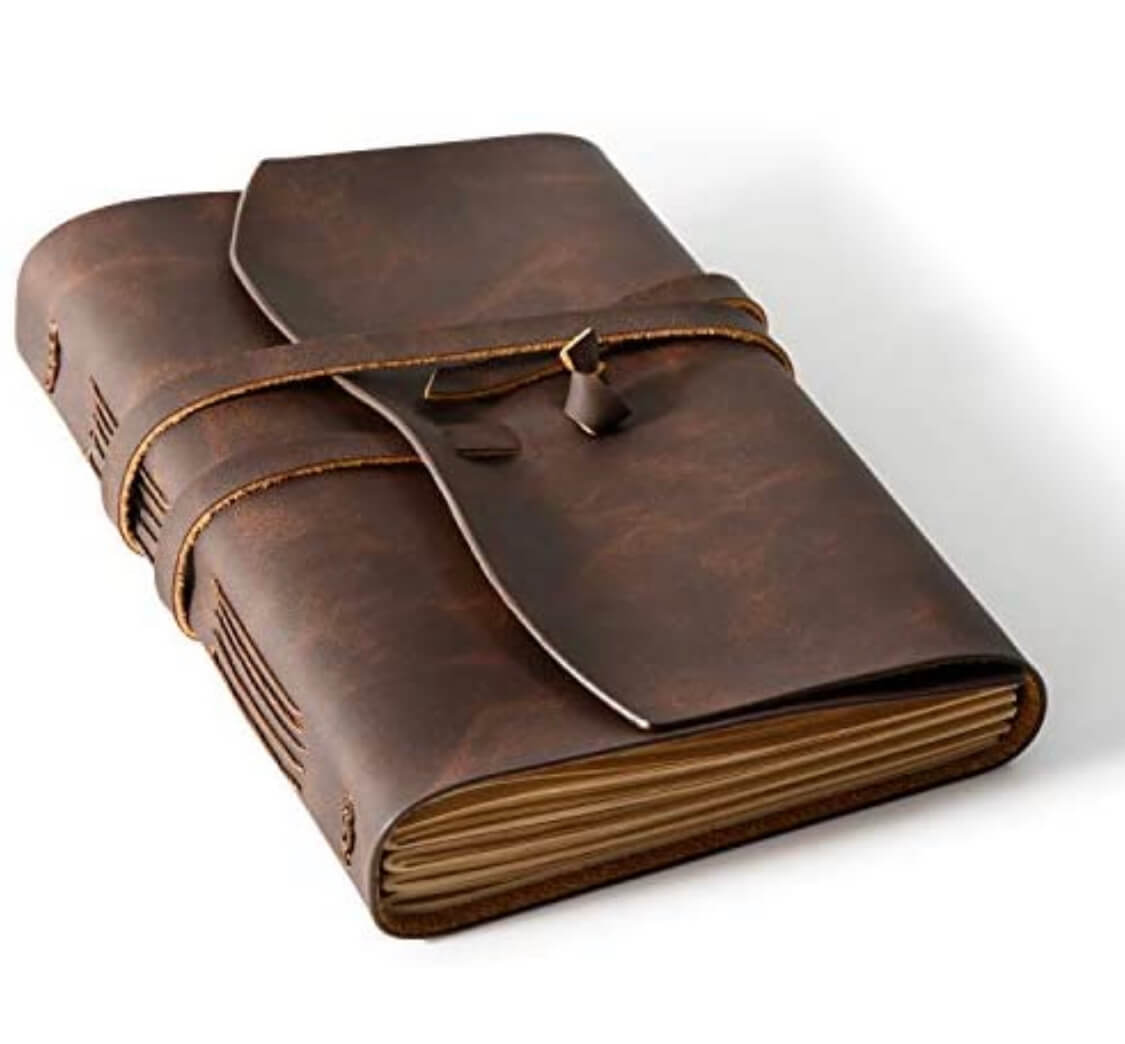 Leather journal for travelers